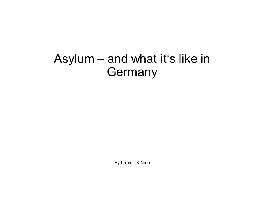 What is Asylum.The word Asylum has its origins in the Greek language, meaning a place of refuge.