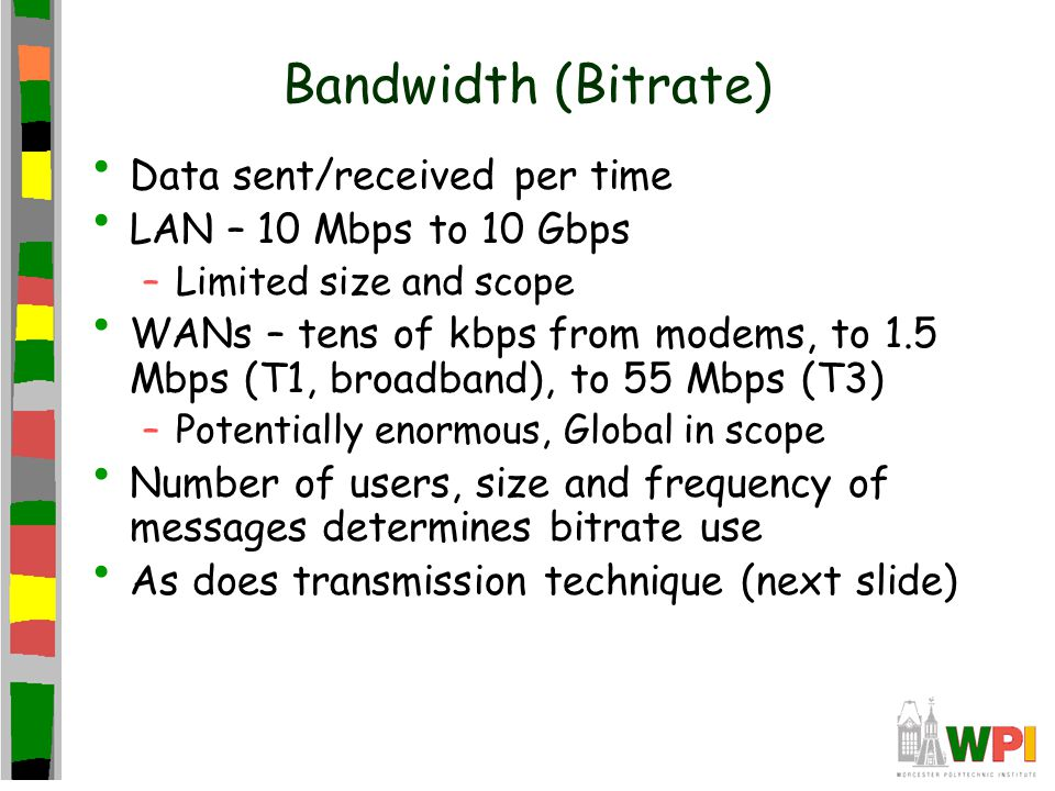Transmission Techniques (a) Unicast, one send and one get –Wastes bandwidth when path shared (c) Broadcast, one send and all get –Perhaps ok for LAN –Wastes bandwidth when most don't need (b) Multicast, one send and only subscribed get –Current Internet does not support –Multicast overlay networks