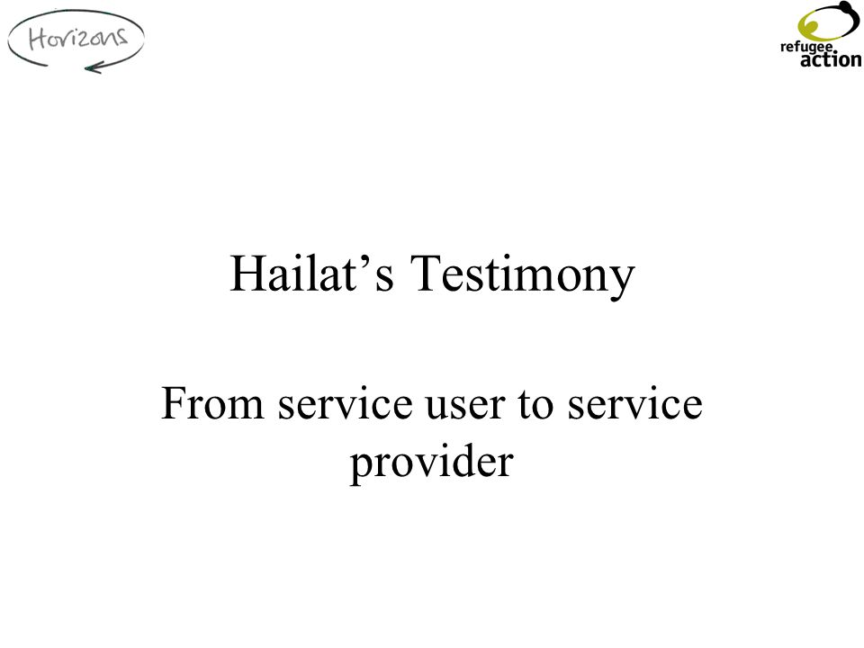 Hailat's Testimony From service user to service provider