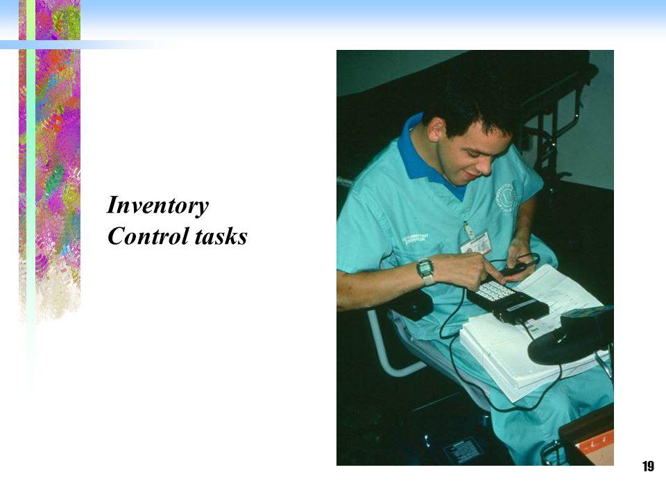 19 Inventory Control tasks