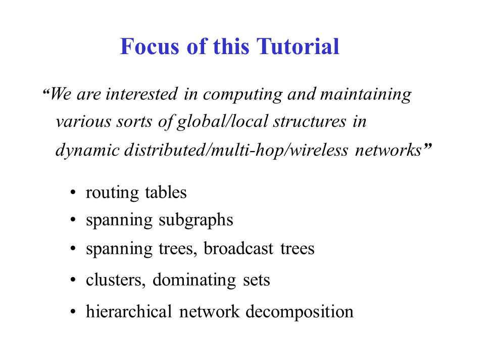 Clustering: Hierarchical Clustering disjoint or overlapping flat or hierarchical internal and border nodes and edges Flat Clustering