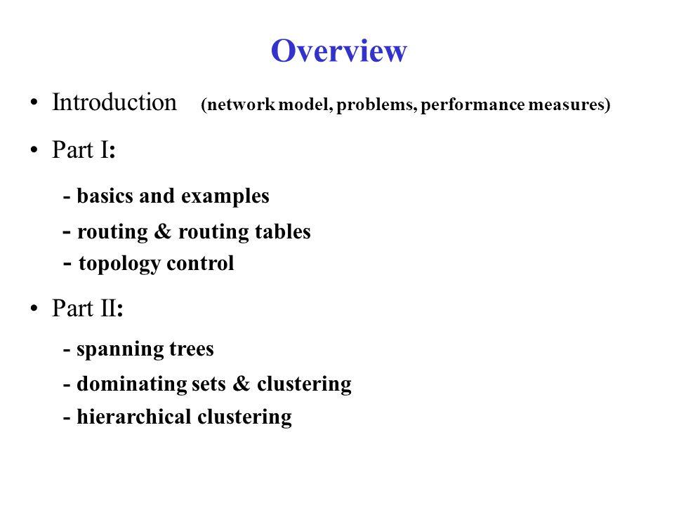 Multi-Hop Network Model dynamic network undirected sort-of-almost planar?