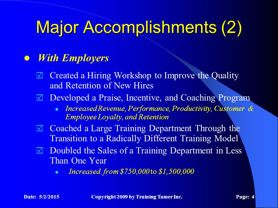 Training Tamer Strategic Value Helping Job Seekers & Employers Achieve Success.