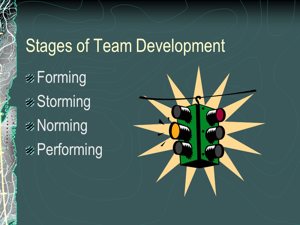 Stages of Team Development Forming Storming Norming Performing