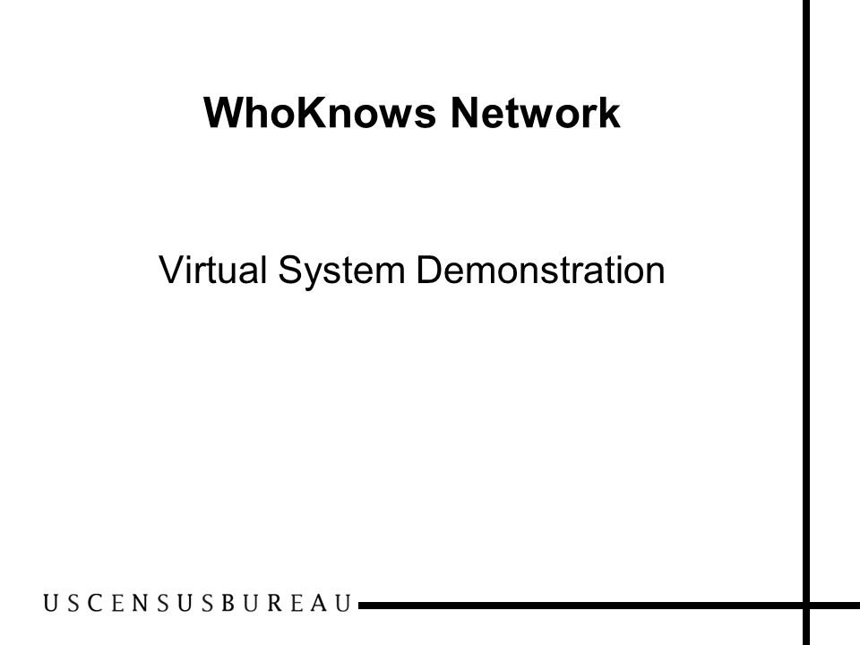 5 WhoKnows Network Virtual System Demonstration