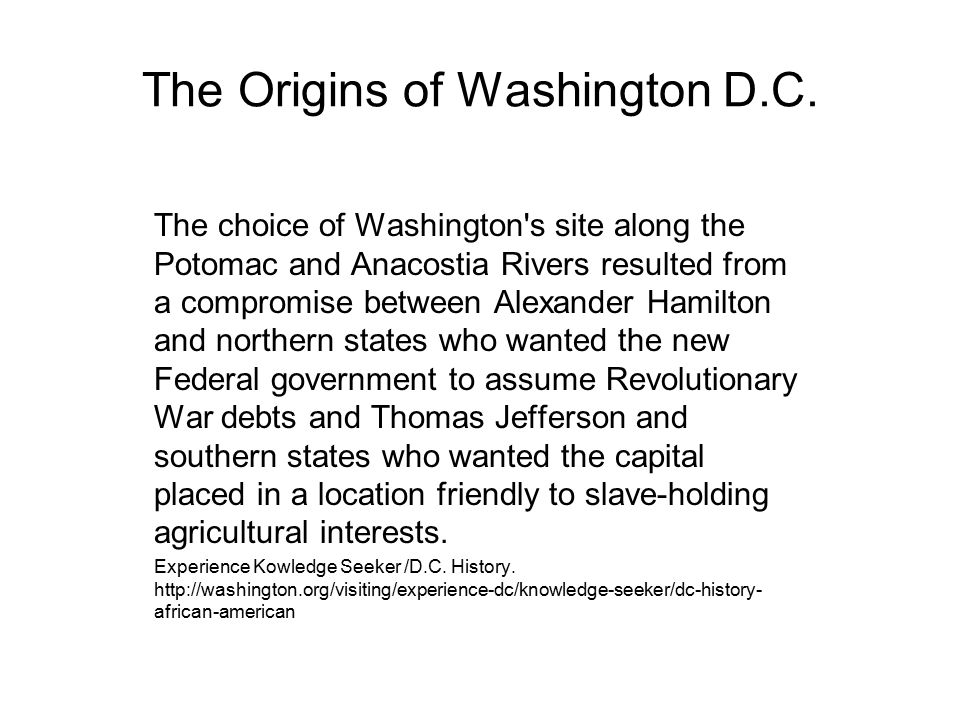 The Origins of Washington D.C.