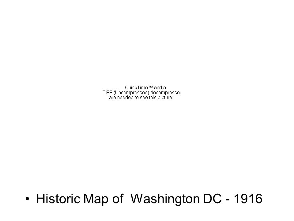 Historic Map of Washington DC - 1916
