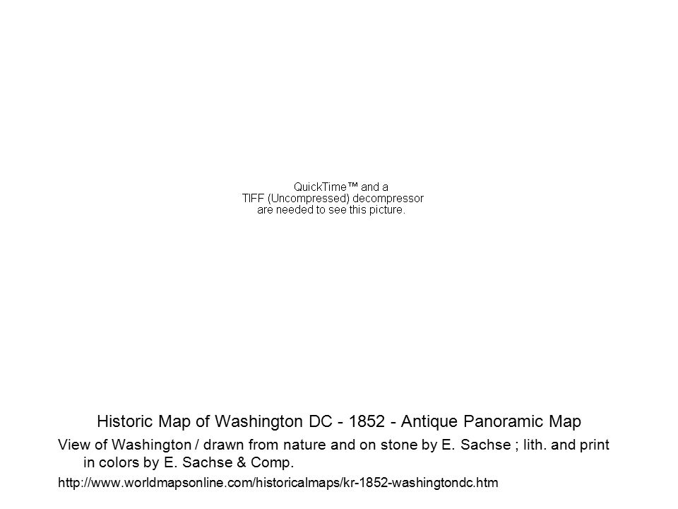 Planning for Washington's central mall was undertaken in 1901 by a US Senate Committee chaired by Senator James McMillan.