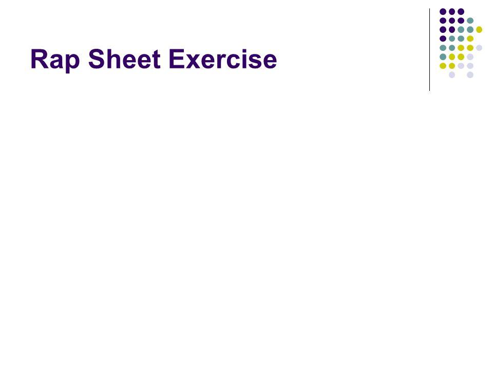 Rap Sheet Exercise