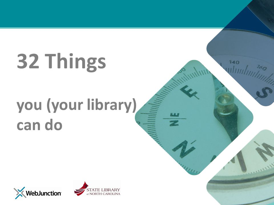 32 Things you (your library) can do