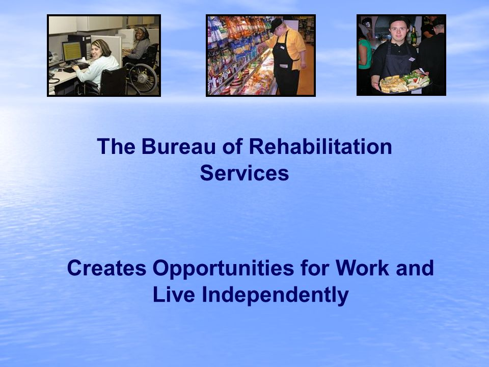Creates Opportunities for Work and Live Independently The Bureau of Rehabilitation Services