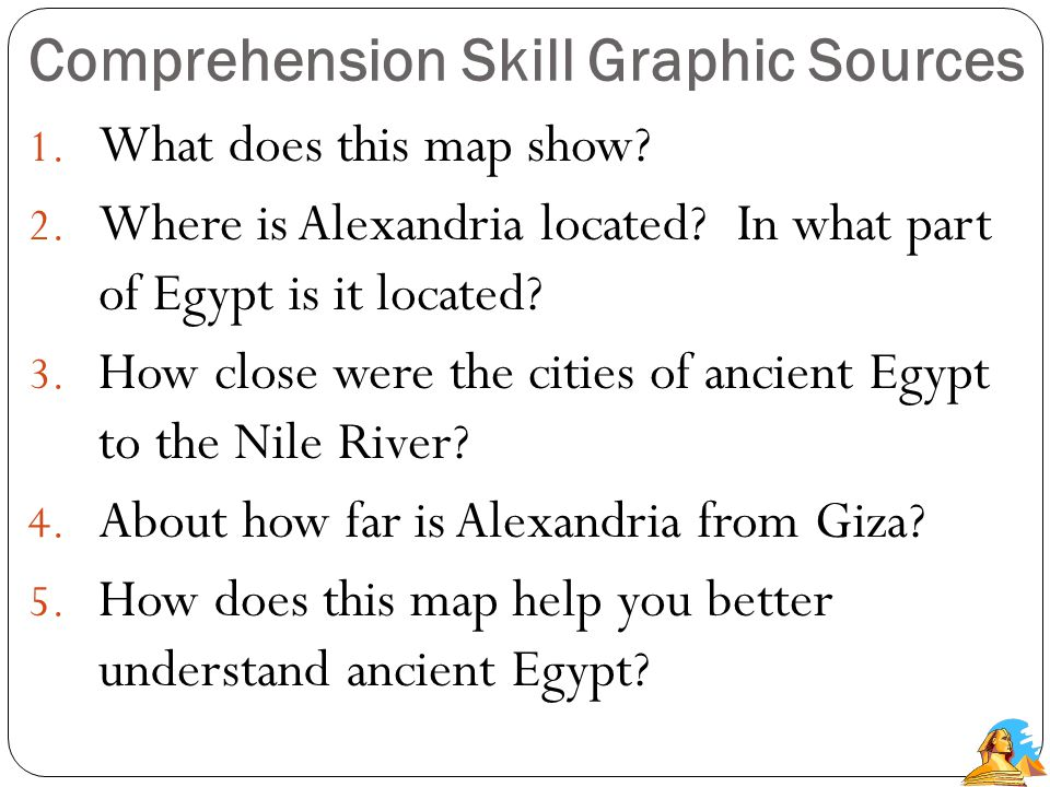 Comprehension Skill- Graphic Sources A graphic source shows or explains information from the text.