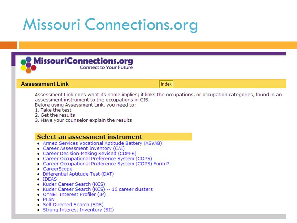 Missouri Connections.org