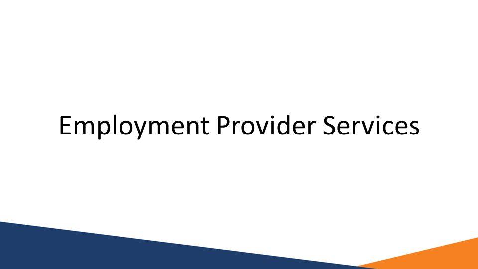 Employment Provider Services