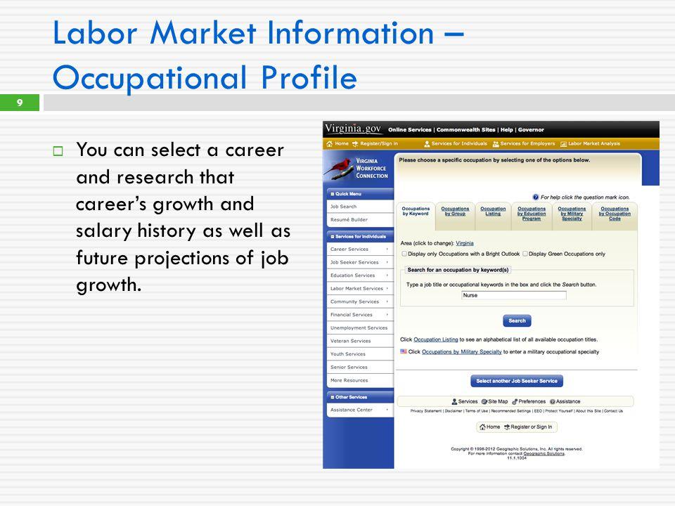 For further Labor Market Information David.Tysinger@vec.virginia.gov (804) 786-5880