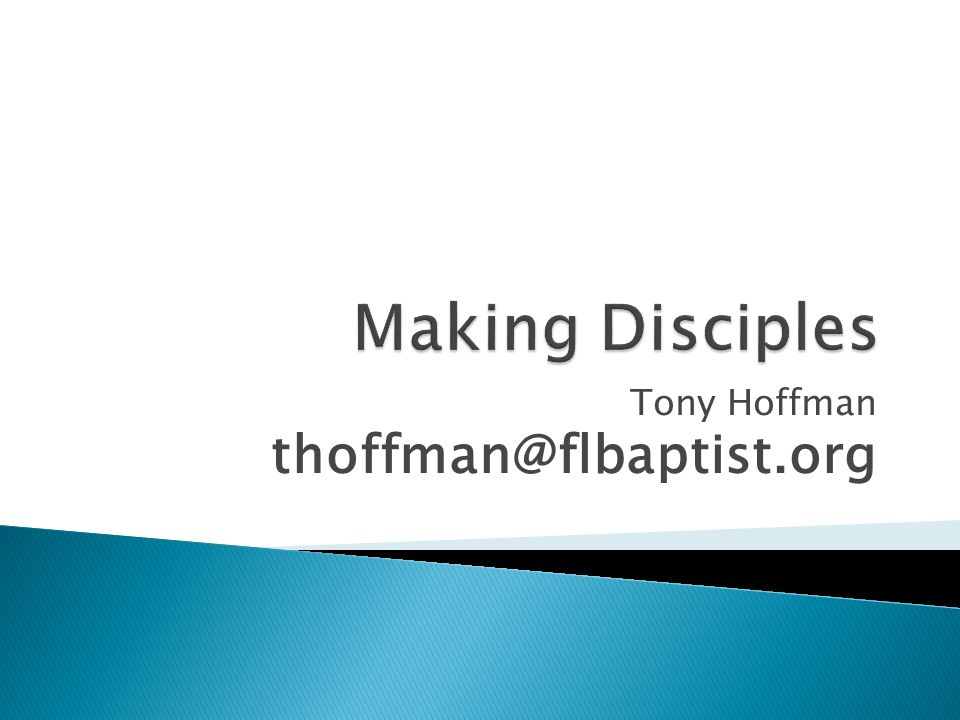 Tony Hoffman thoffman@flbaptist.org