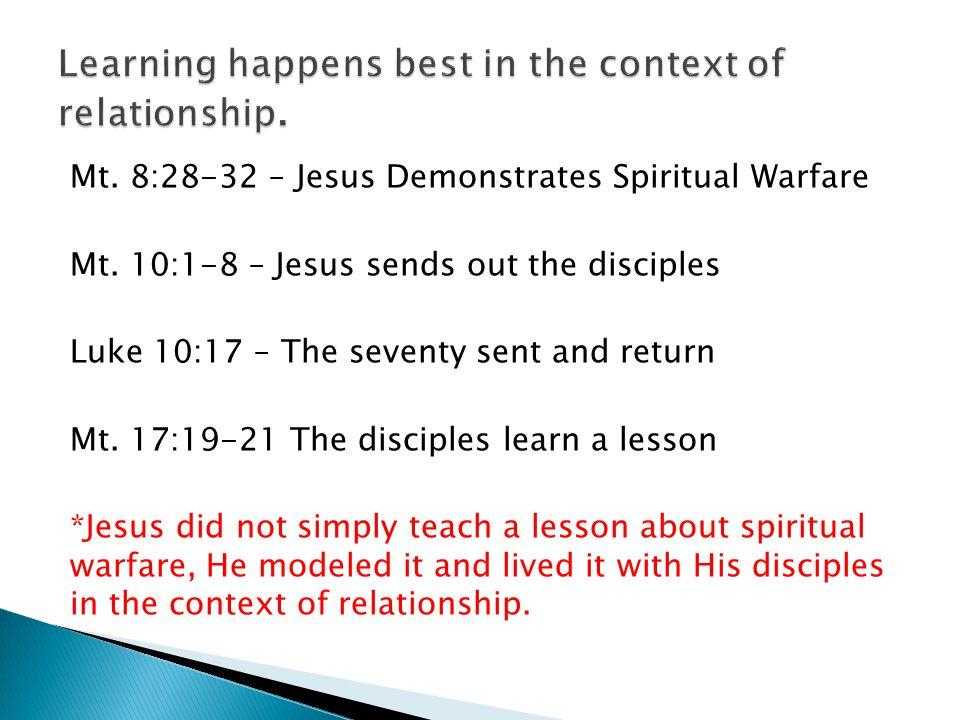 Mt. 8:28-32 – Jesus Demonstrates Spiritual Warfare Mt.