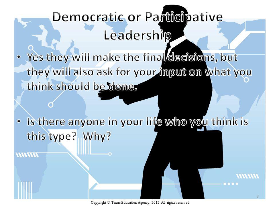 Delegative Leadership (Laissez-Faire) Researchers founds that children under delegative (laissez-fair) leadership were the least productive of all three groups.