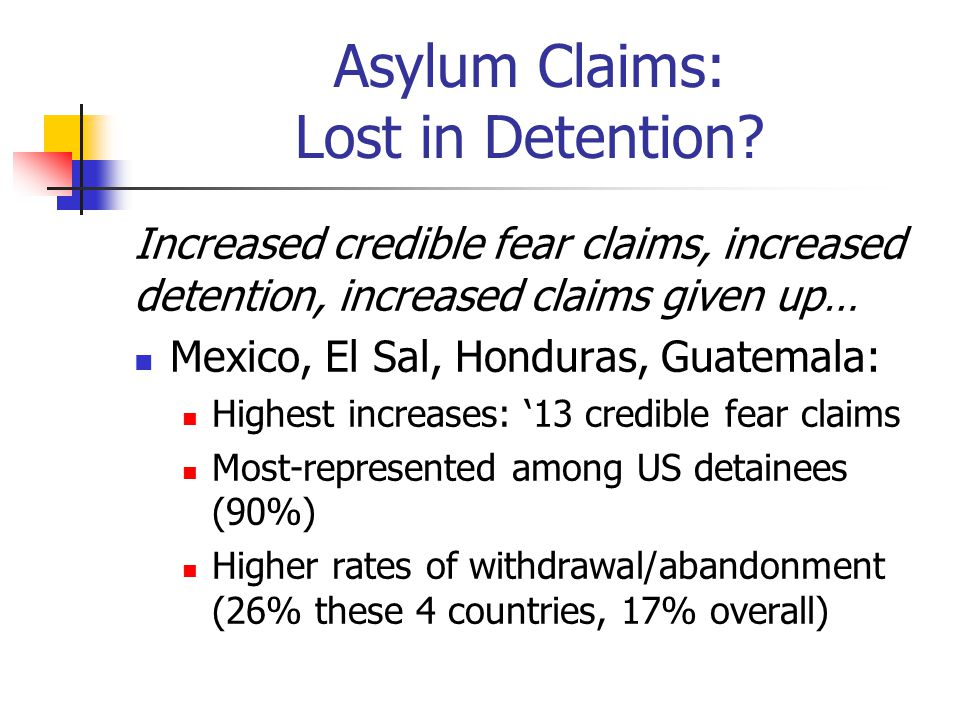 Asylum Claims: Lost in Detention.