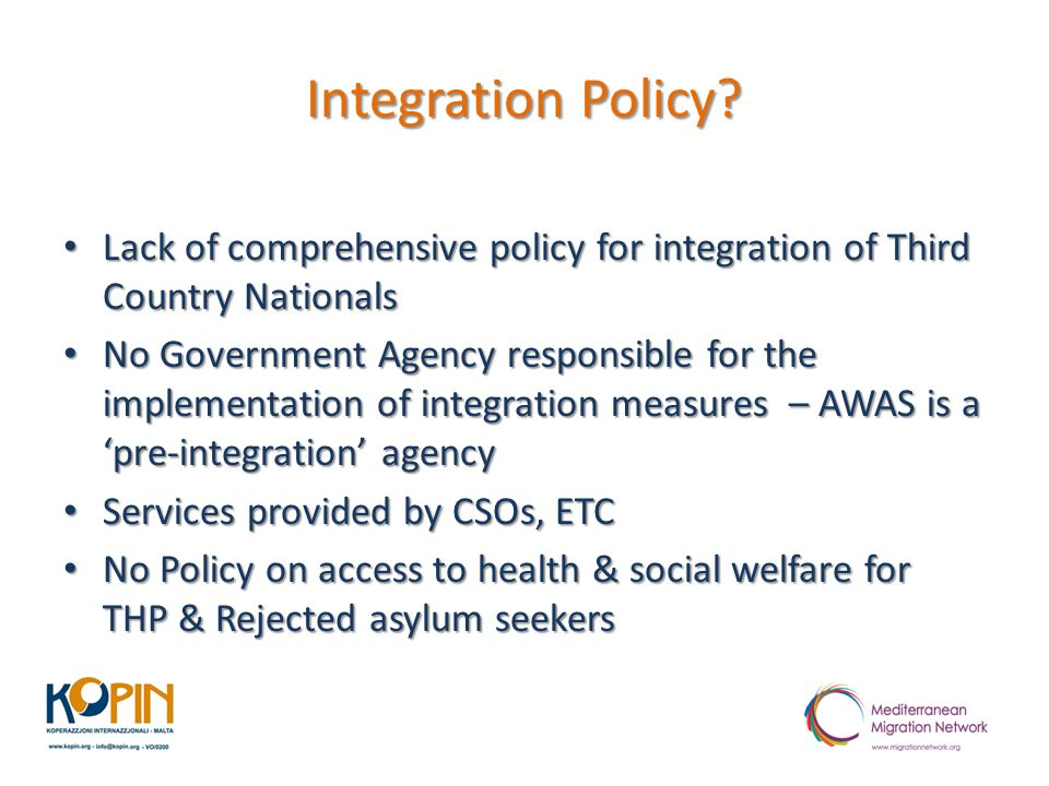 Integration Policy.