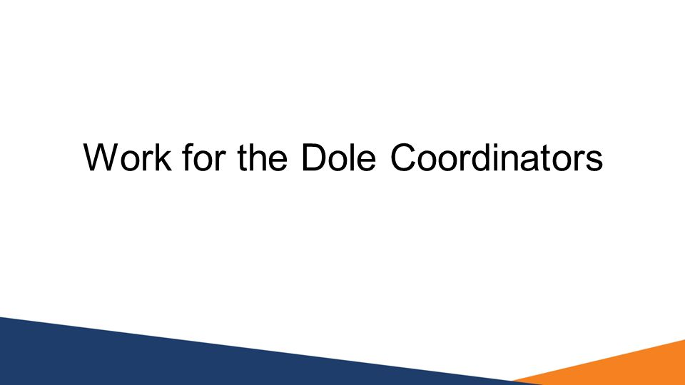 Work for the Dole Coordinators
