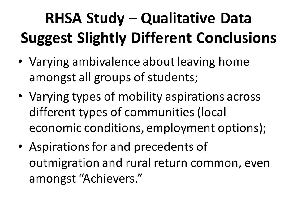 Data and Methods: Quantitative Survey of 9-12 th graders in 73 rural schools; 8.2% classified as small town; 78.1% classified as rural, outside MSA; 13.7% classified as rural inside MSA; 36 schools with >50% low income students (FRPL); 15 schools with >50% self identifying as ethnic minority.