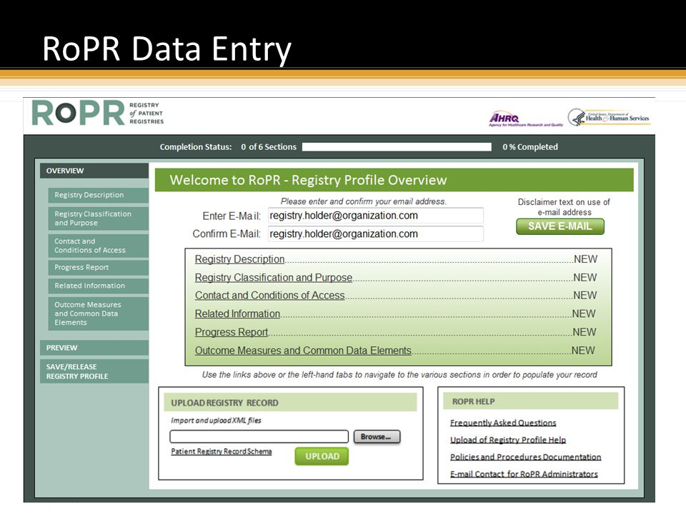 Proprietary and Confidential RoPR Data Entry 34