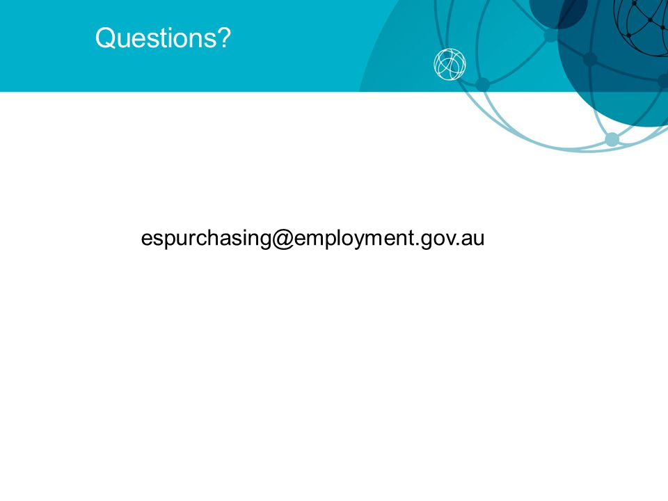 Questions espurchasing@employment.gov.au