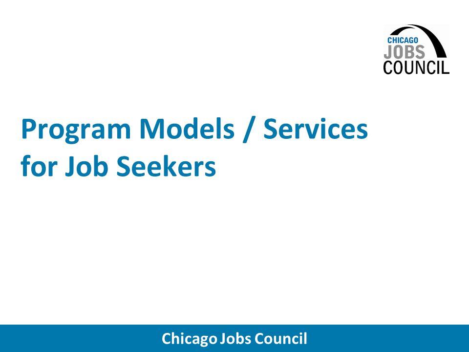 Chicago Jobs Council Workforce Development Funding Sources
