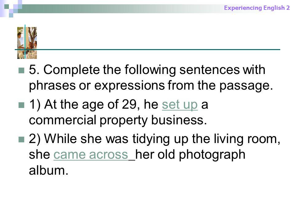 Experiencing English 2 5.