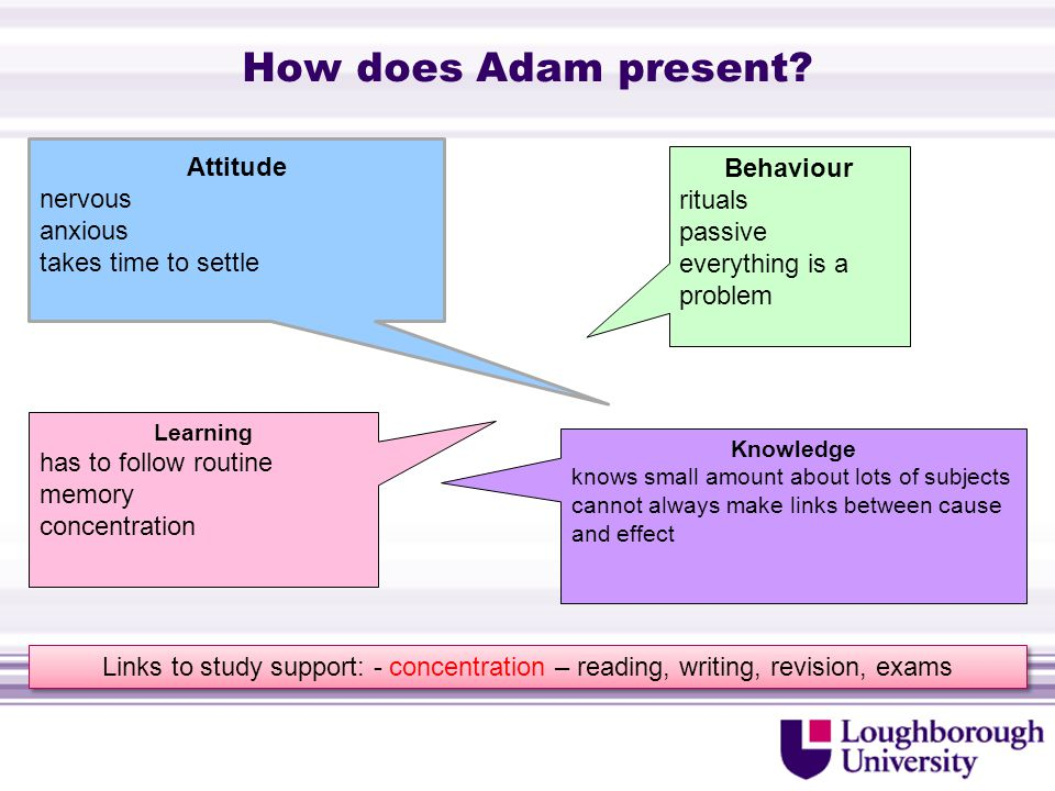 How does Adam present.