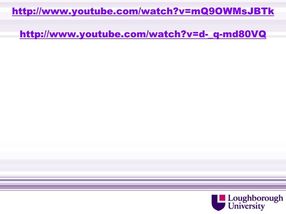 http://www.youtube.com/watch v=mQ9OWMsJBTk http://www.youtube.com/watch v=d-_q-md80VQ http://www.youtube.com/watch v=mQ9OWMsJBTk http://www.youtube.com/watch v=d-_q-md80VQ