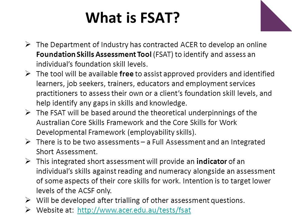 What is FSAT.