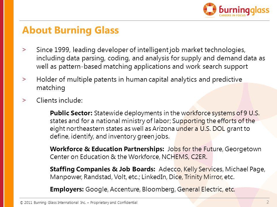 2 © 2011 Burning Glass International Inc.
