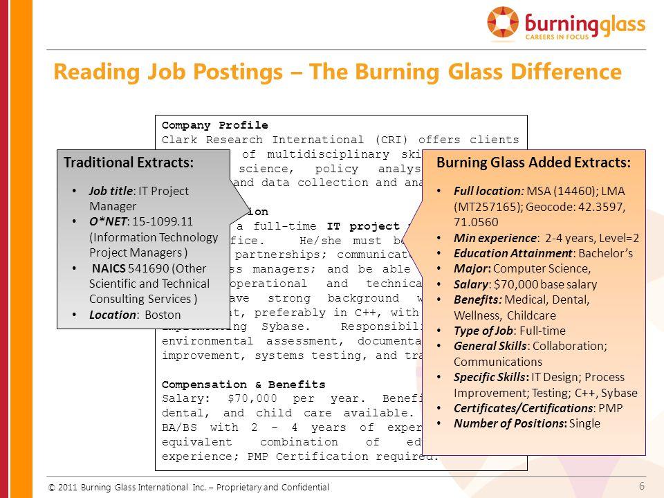 17 Tips on Easy-to-Avoid User Errors © 2011 Burning Glass International Inc.
