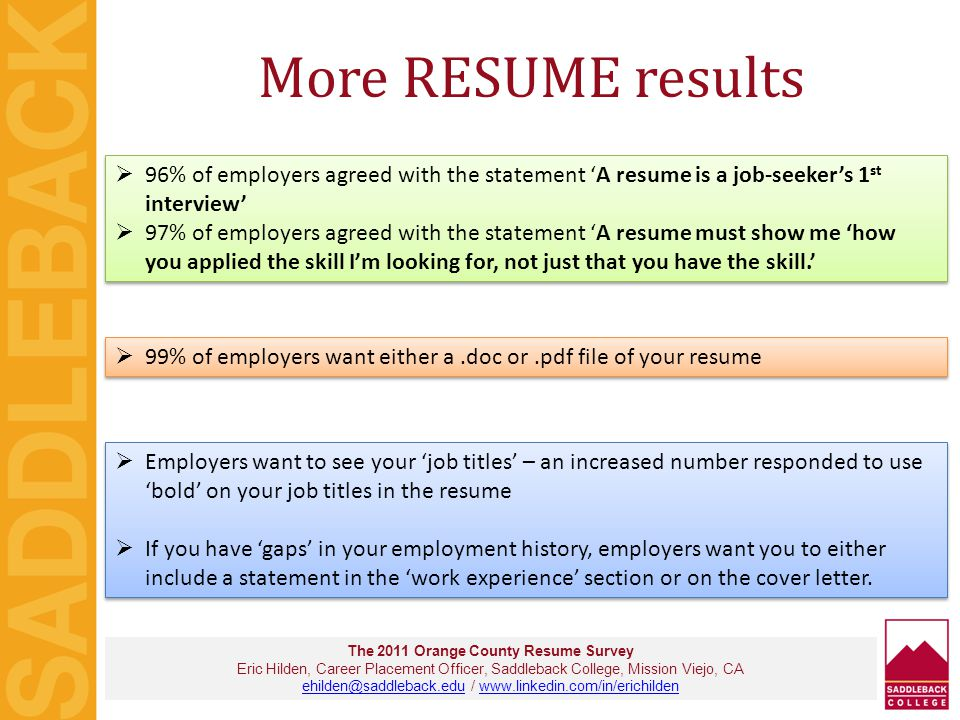 What's the #1 mistake on resumes.