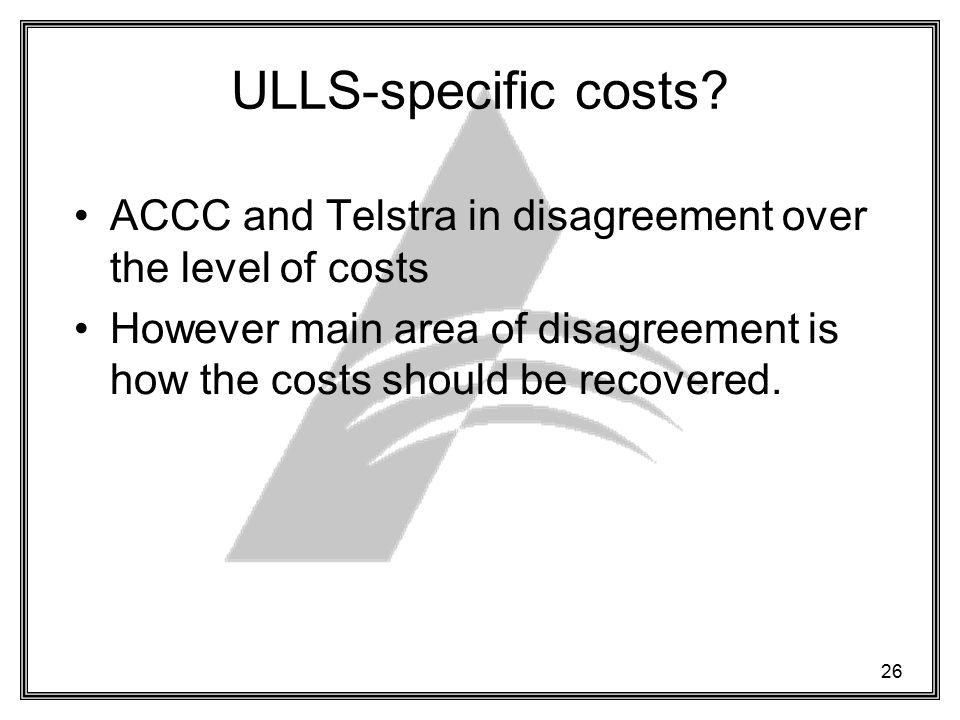 26 ULLS-specific costs.