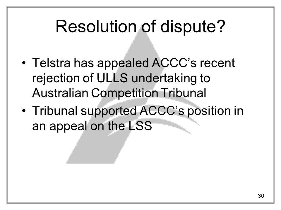 30 Resolution of dispute.