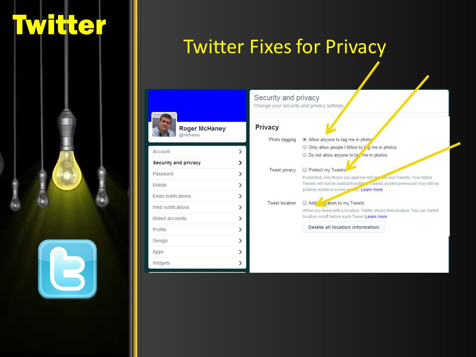 Twitter Twitter Fixes for Privacy