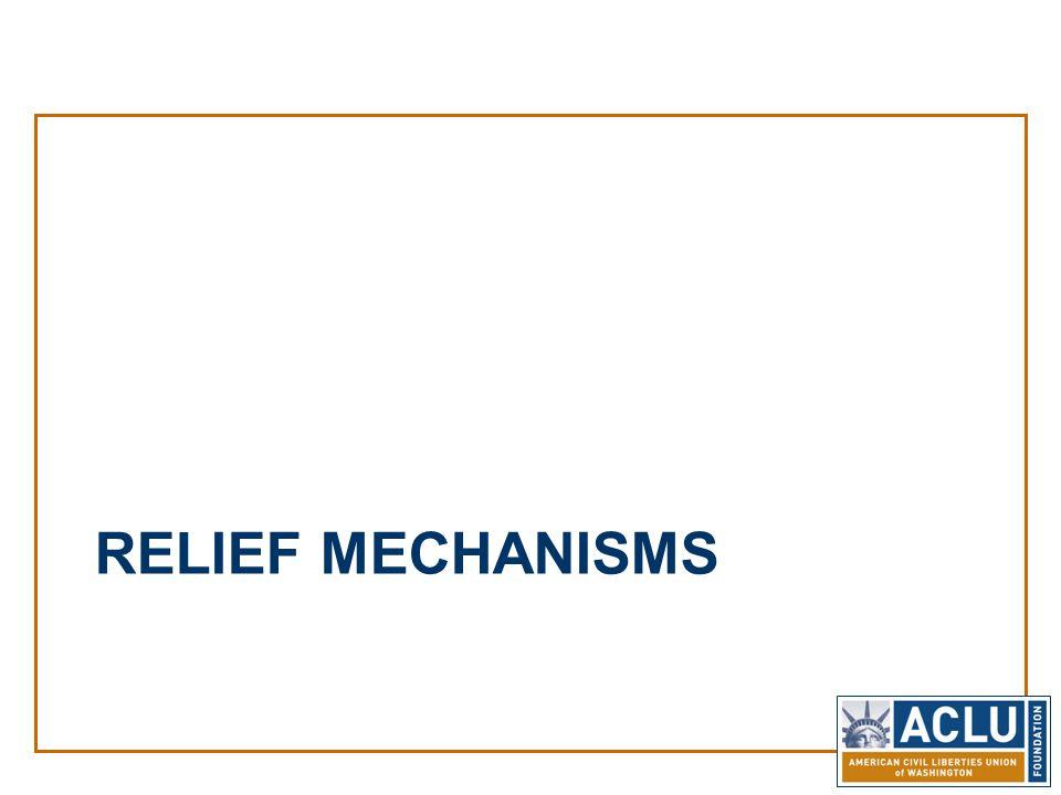 RELIEF MECHANISMS