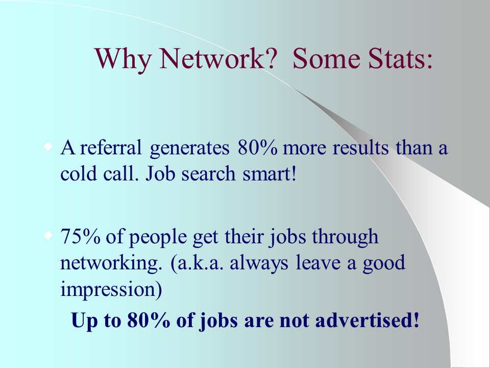 Networking Involves:  Establishing goals.What is your networking mission.