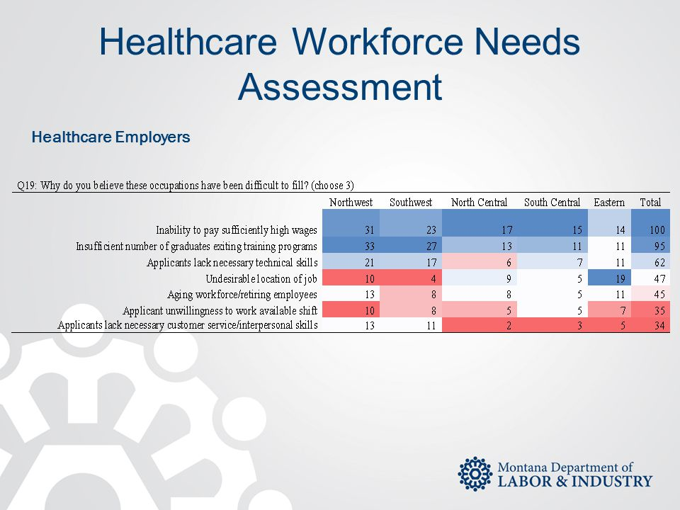 Healthcare Workforce Needs Assessment Healthcare Employers