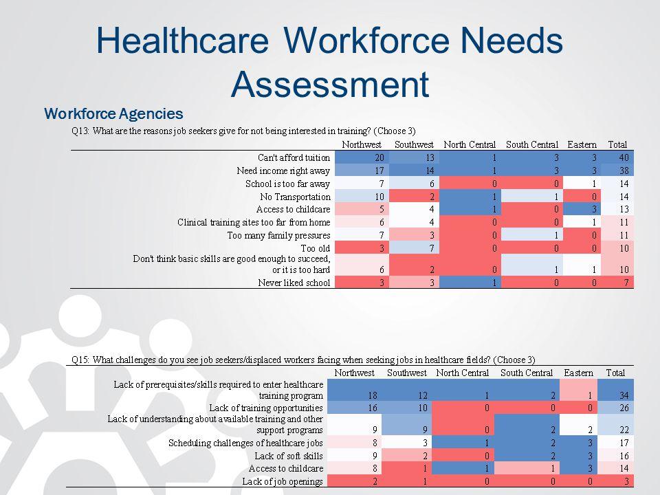 Healthcare Workforce Needs Assessment Workforce Agencies