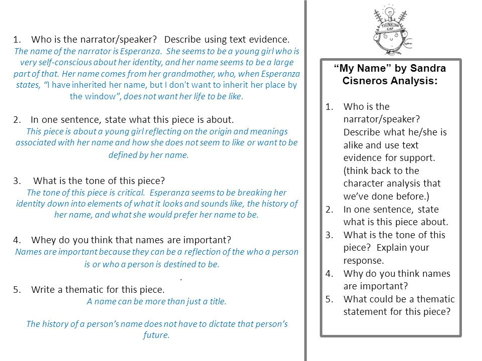 Mr. Wise G(eye) says…Let's take a look at: REVIEWING YOUR RESPONSES TO MY NAME (from Monday)