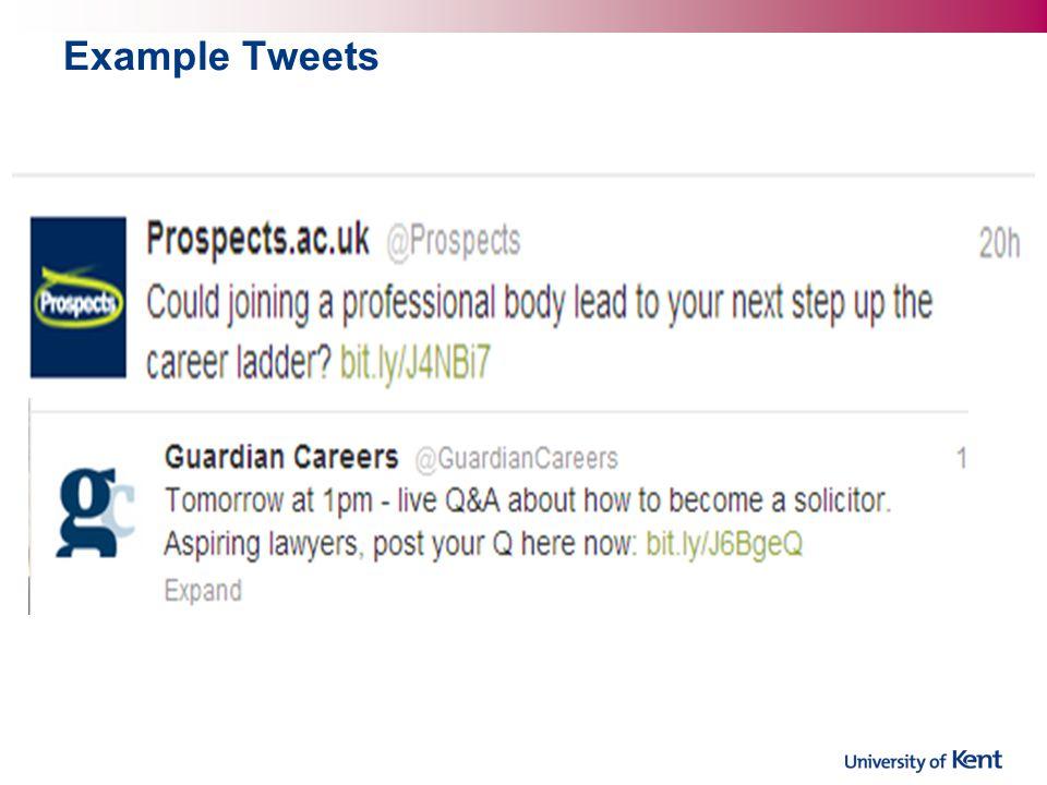 Example Tweets