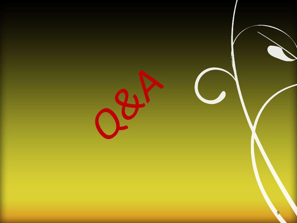Q&A 9