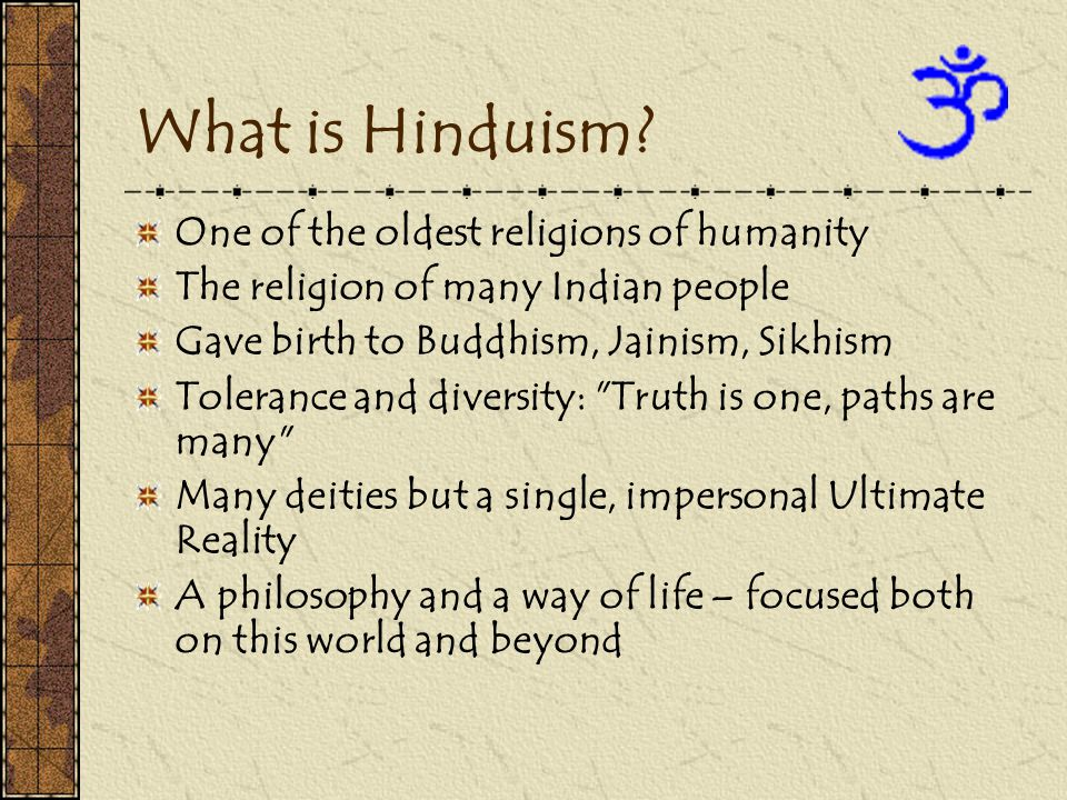 What is Hinduism.