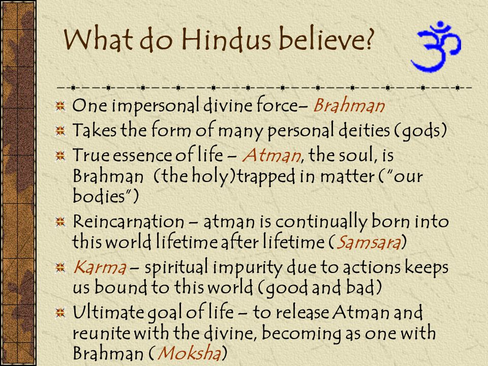 How does Hinduism affect daily life in this word.