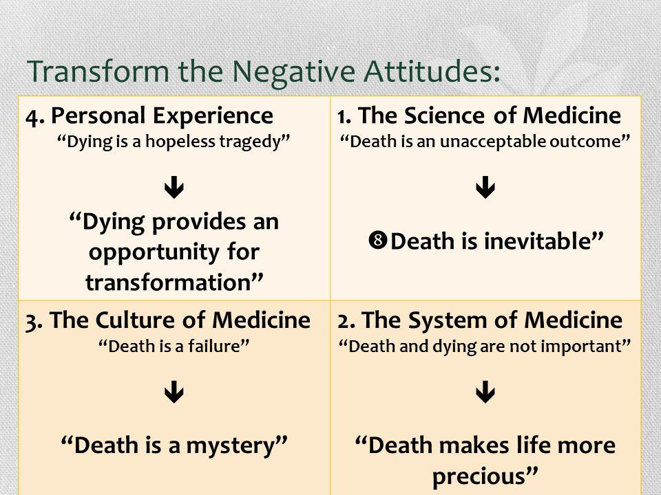 Transform the Negative Attitudes: 4.