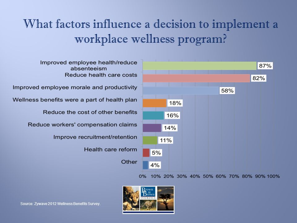 What factors influence a decision to implement a workplace wellness program.